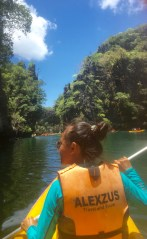 Kayaking in El Nido.