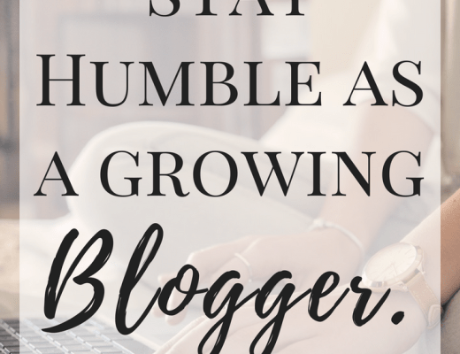 How to stay humble as a growing Blogger