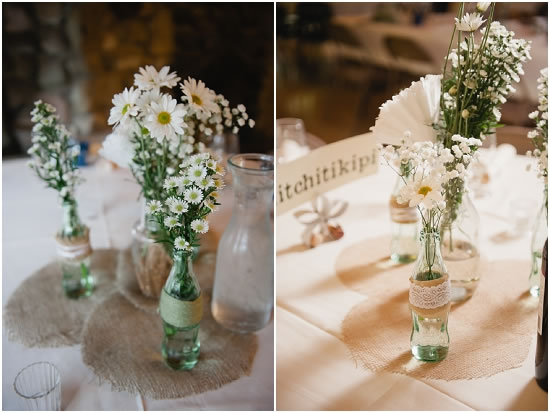 An Idea For A Diy Wedding Centerpiece Featuring Flowers