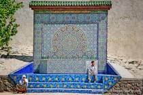 Fonte pública em Chefchaouen em Marrocos