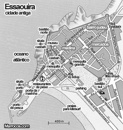 Mapa de Essaouira