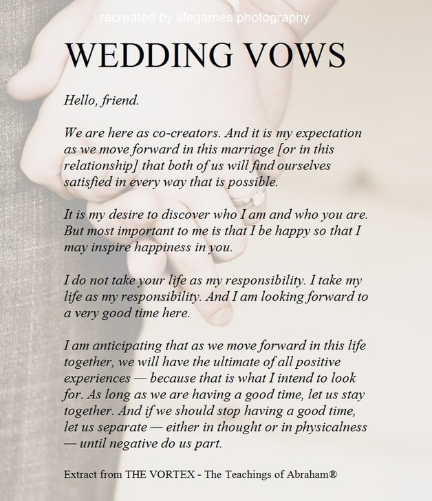 Standard Christian Wedding Vows