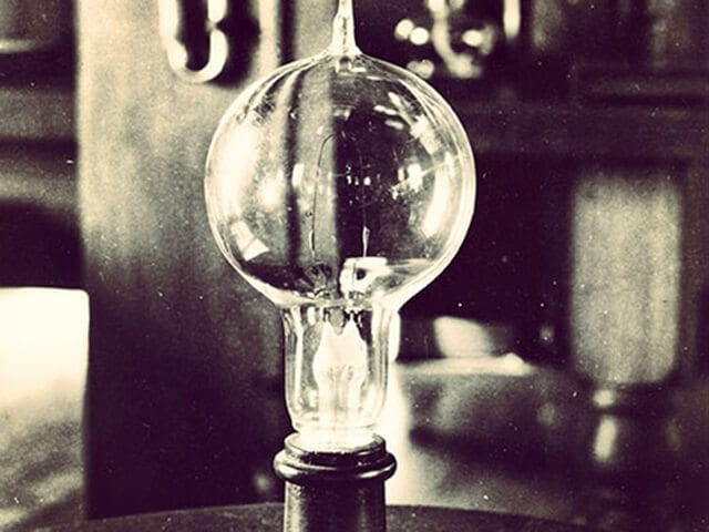 First Light Bulb Invented