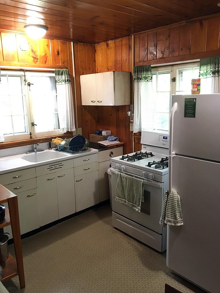Kitchen modern stove and propane fridge