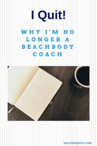No longer a beachbody coach