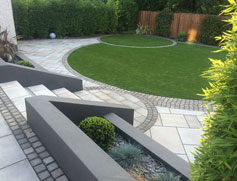 Curves in a Square Garden | Marshalls on Square Patio Designs  id=40538