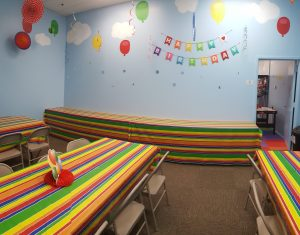 Lets Play bounce birthday party room