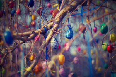 Easter Eggs from Tree