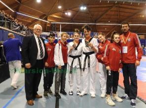 Premiati da Mr Fred Buitenhuis President Dutch Taekwondo