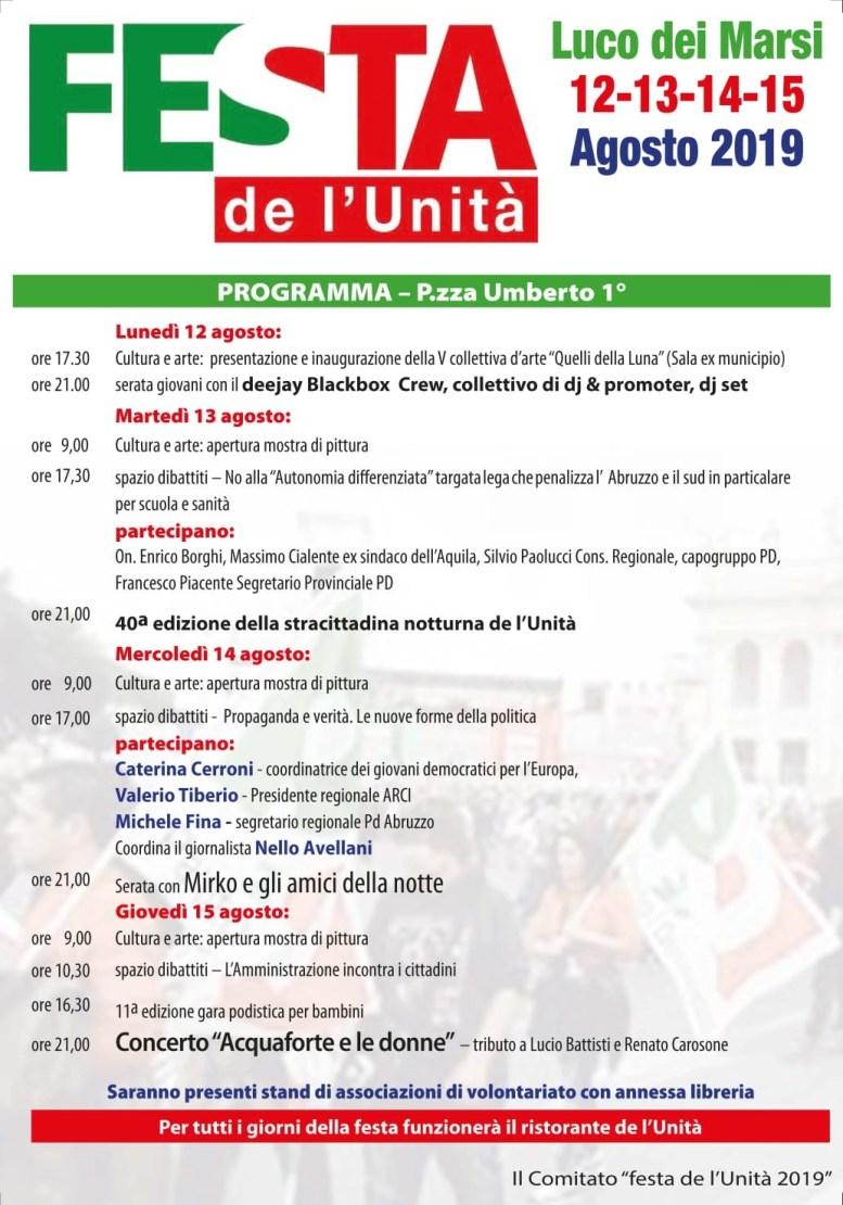 locandina Festa de l'Unità