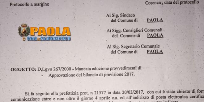 consiglio comunale paola