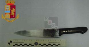 cosenza coltello strada via popila