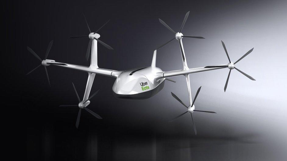 uber eats drone