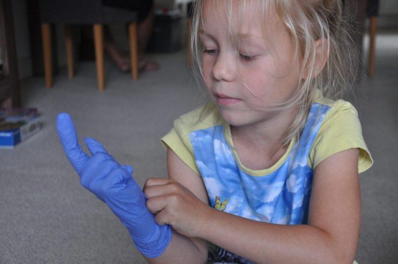 tandarts handschoen