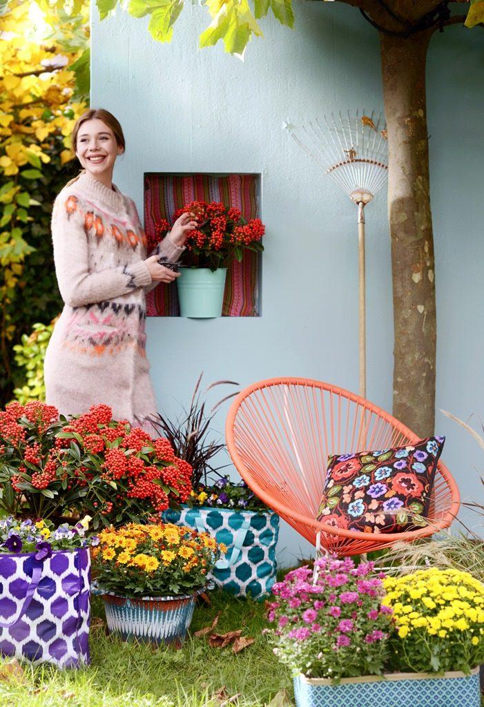 Kleurige herfsttuin om vrolijk van te worden!