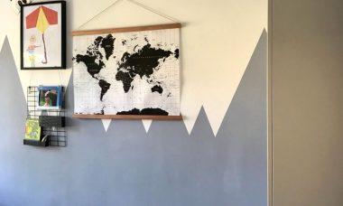 jongenskamer wereldkaart