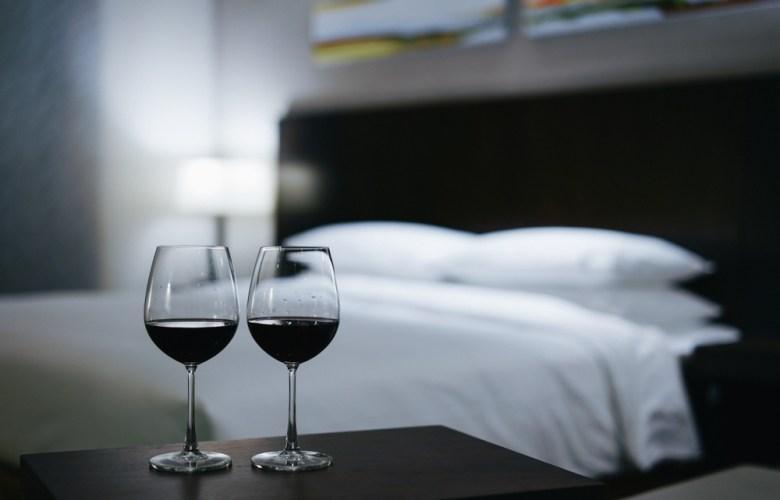 slaapkamer met wijn