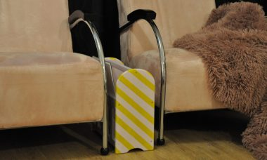 lectuurbak geel roze
