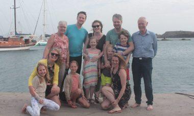 familie aan zee