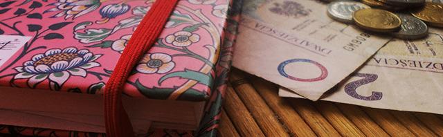 pieniądze planer organizer kalendarz drobne 20 złotych