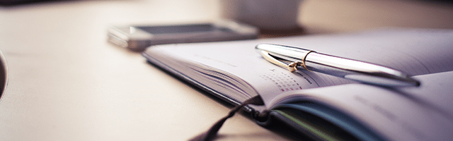 kalendarz organizer planner długopis