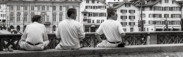 trzech mężczyzn biała koszula dla chłopaka mężczyzny faceta