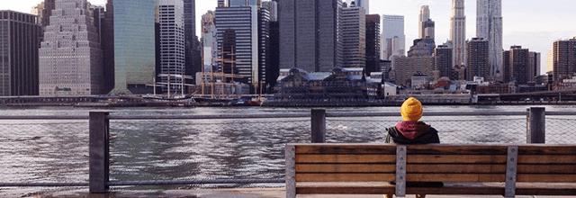 Nowy Jork miasto budynki zakupy z chłopakiem mężczyzną facetem mężem