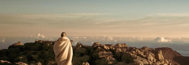 piękne widoki góry niebo kobieta