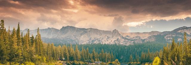 góry las niebo piękne krajobrazy widoki