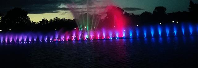 fontanna multimedialna wrocław hala stulecia pergola pokaz specjalny