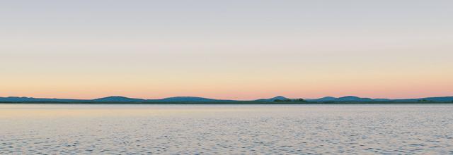morze brzeg widok horyzont zachód wschód słońca