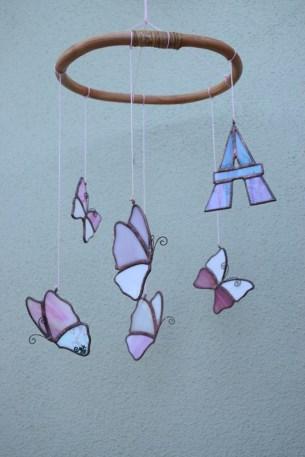 Giostrina mobile con farfalle