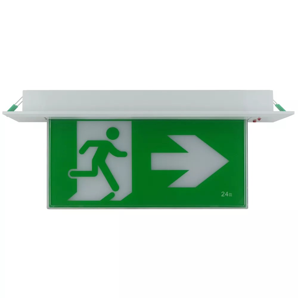 Recessed Exit Light 3W Emergency