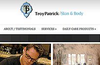 Troy Patrick/Skin & Body, Web Site