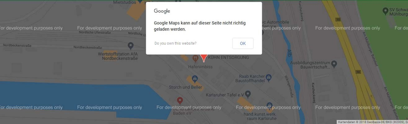 Google Maps Development Purpose Only