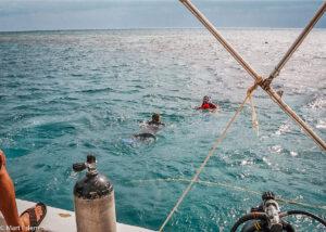 Potápění v Blue Hole, Belize (Mart Eslem)