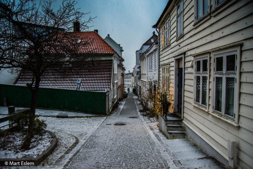 ulička Kjellersmauet v Bergenu (Mart Eslem)