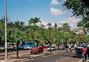 Rušné ulice Maputa, JAR [Mart Eslem]