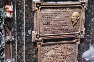 Hrob Evity na hřbitově Recoleta v Buenos Aires – Recoleta, Evita, Duarte, Buenos Aires, Argentina [Mart Eslem]