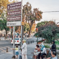 Rozcestník v Istanbulu (Mart Eslem)