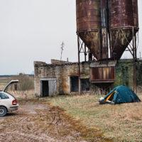 Nocleh u opuštěného lotyšského kolchozu (Mart Eslem)