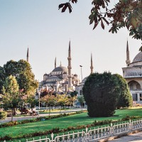 Modrá mešita v Istanbulu (Mart Eslem)