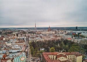 Riga ze střechy hotelu Latvija (Mart Eslem)
