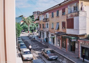 Výhled z hotelu Guri v Elbasanu (Mart Eslem)