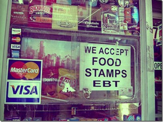 we accept food stamps sign