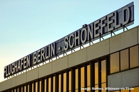 Schönefeld budget airport terminal Berlin Germany
