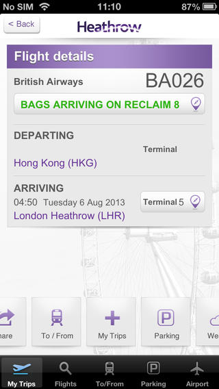 Heathrow Airport app
