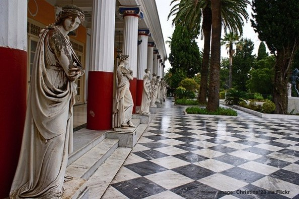 Achillion Palace in Corfu Greece
