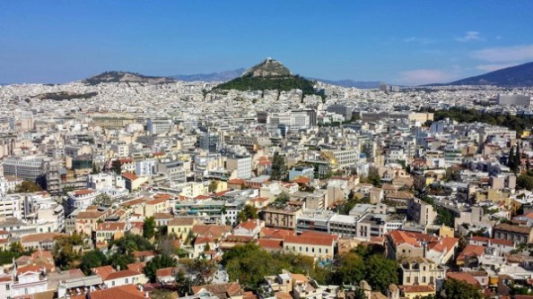 Athens Greece Skyline view from Acropolis