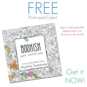 Bookish: Adult Coloring Book by Martha Sweeney Free Print and Color